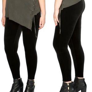 Spanx Plus Size Velvet Leggings Solid Black